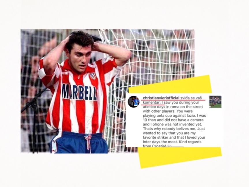 Christian Vieri upravo je lajkao moj komentar na Instagramu i tako potvrdio 21. godinu starupriču